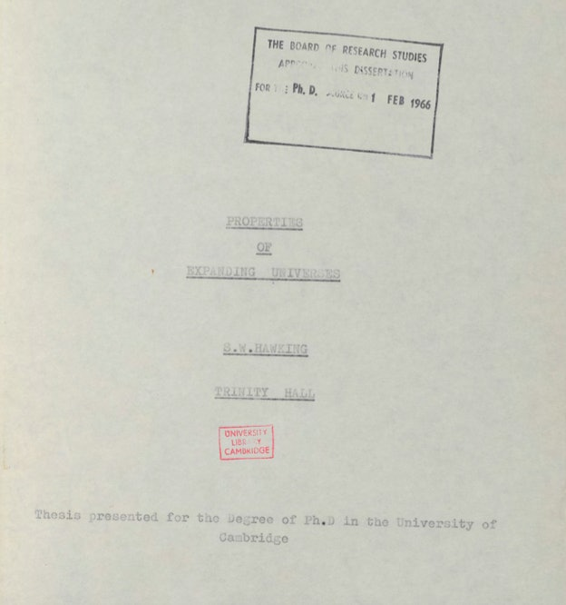 Hawking's thesis