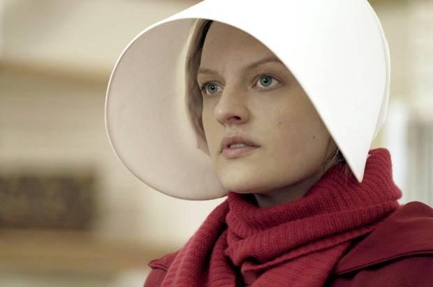 Elisabeth Moss as Offred or June in 'The HandmaidsTale'