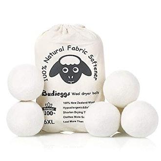 Budiegggs Wool Dryer Balls - 6 Pack
