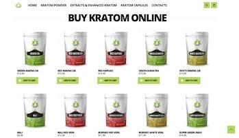 The website for a kratom vendor.