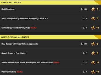 Season 5 Week 4 Challenges