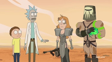 Rick, Morty, and Summer go to a 'Mad Max' universe.