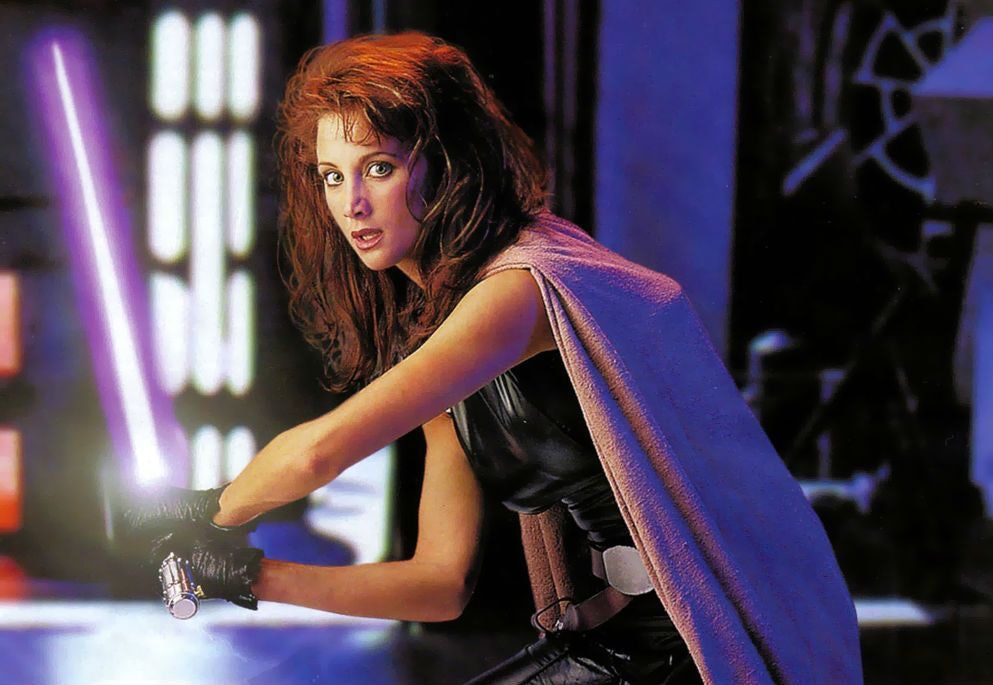 Shannon McRandle as Mara Jade in the year 2000 for the the Lucasfilm-approved Star Wars Customizable Card Game