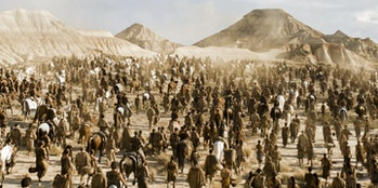 The Dothraki horde. Most -- all? -- would die in The Battler of Winterfell.