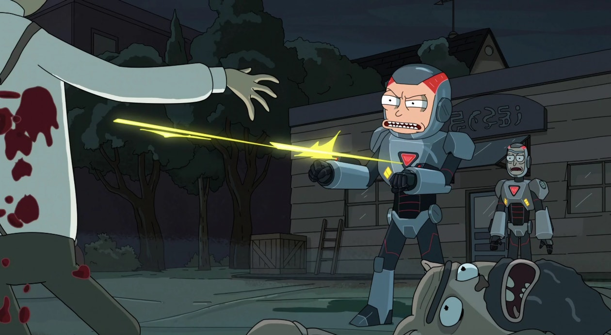 """Morty gets a little too into Purging in """"Look Who's Purging Now""""."""