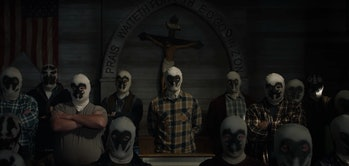 Multiple Rorschach vigilantes in HBO's 'Watchmen'
