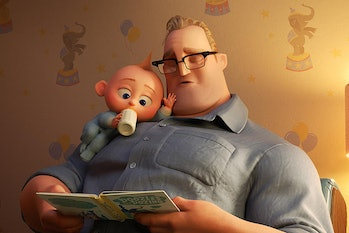 Mr. Incredible has to learn to be a better father in 'Incredibles 2'.