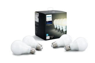 Philips Hue White 4-Pack 60W Equivalent Dimmable LED Smart Bulbs