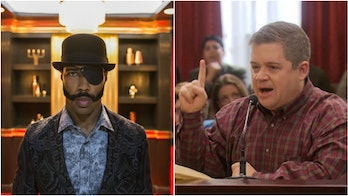 "Omari Hardwick as Mr. _______ in 'Sorry to Bother You' and Patton Oswalt as Garth Blundin in the 'Parks and Recreation' episode ""Article Two""."