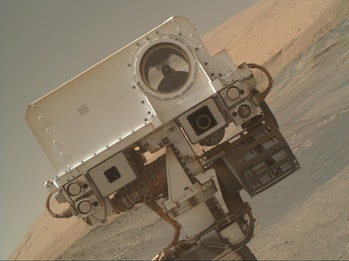 A selfie take by NASA's Curiosity Rover.