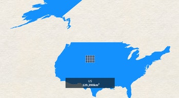 United States powered entirely by solar.