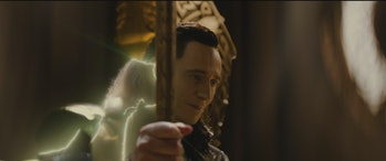 Loki is revealed as Odin at the end of 'The Dark World'.