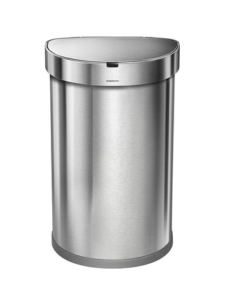 simplehuman 45 Liter / 12 Gallon Stainless Steel Semi-Round Sensor Can, Touchless Automatic Trash Ca...