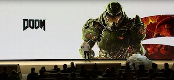 google stadia announcement doom
