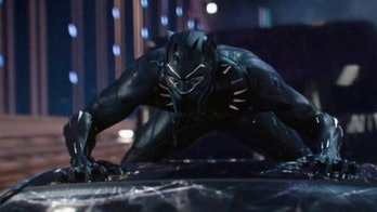 T'Challa in his new suit in 'Black Panther'.