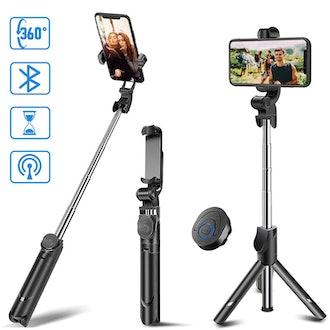 Selfie Stick Tripod, MZTDYTL Bluetooth Extendable Selfie Stick