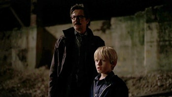 Lt. Gordon with his son in 'The Dark Knight'.