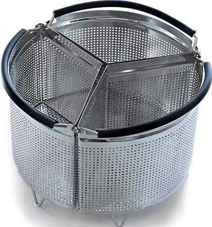 Hatrigo 3-Piece Divider Steamer Basket
