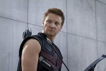 Jeremy Renner as Clint Barton, a.k.a. Hawkeye in 'The Avengers'