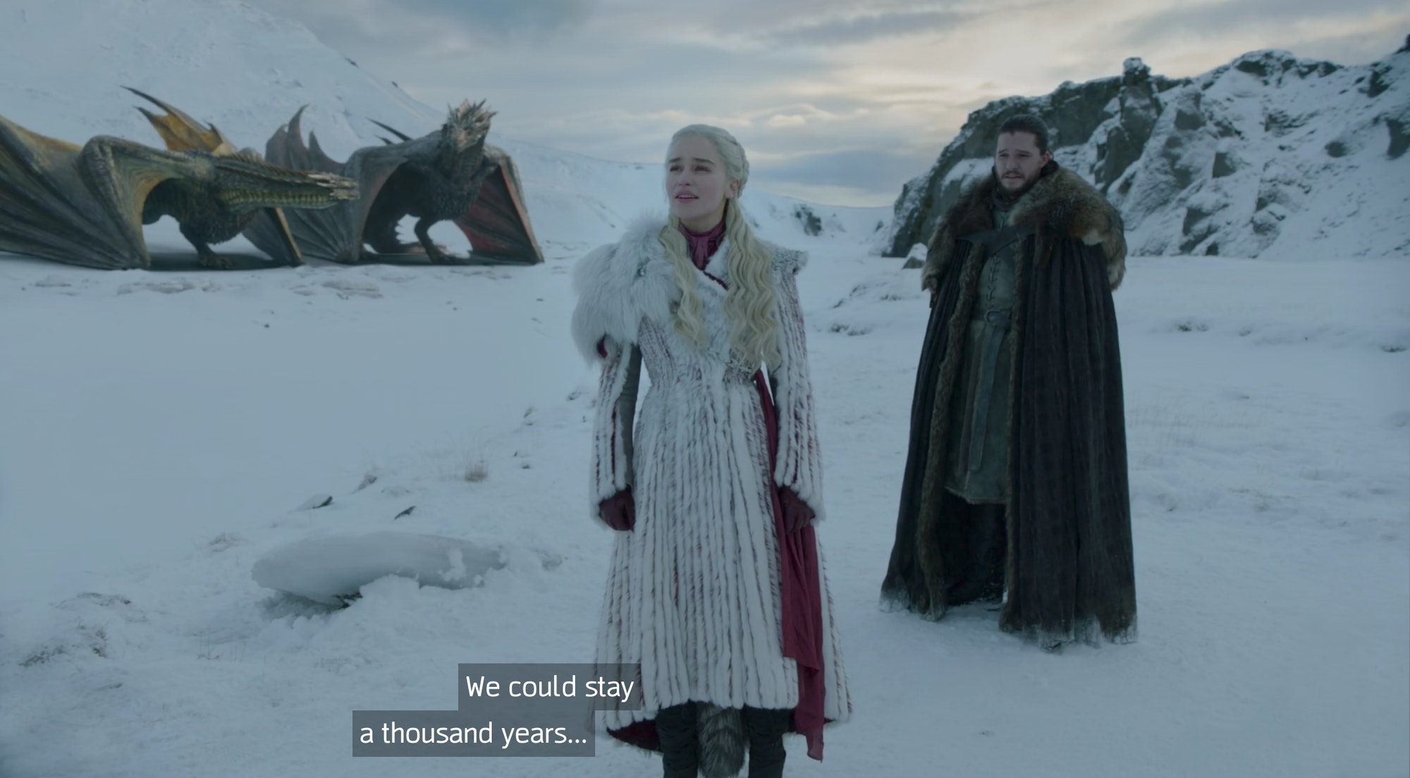 Emilia Clarke and Kit Harington in 'Game of Thrones' Season 8
