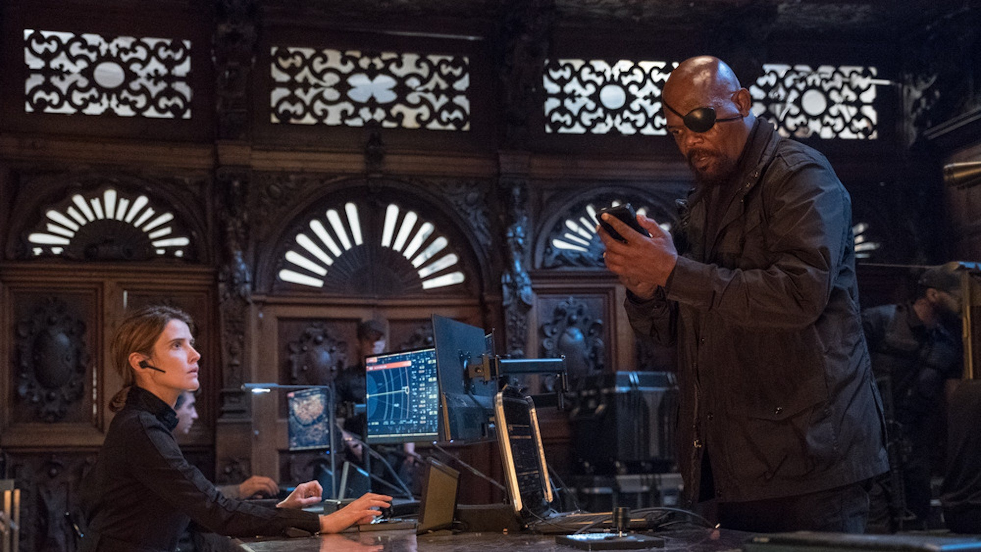 spider-man far from home maria hill and nick fury