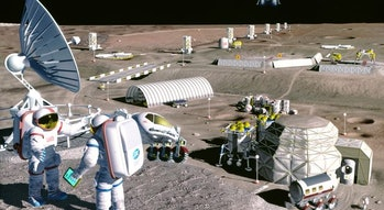 Artist's rendering of the moon base.