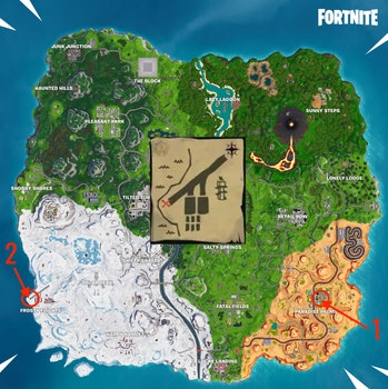 Fortnite Season 8 Week 8 paradise palms treasure map signpost locations