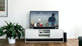 Apple TV offers a sleek user interface for viewing.
