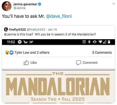 mandalorian season 2 spoilers cast leakjanina gavankar
