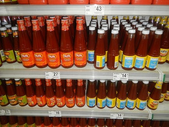Banana ketchup in the Philippines