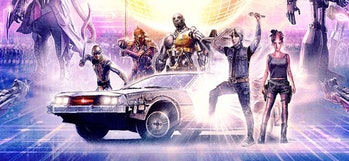 A detail of the poster for 'Ready Player One'