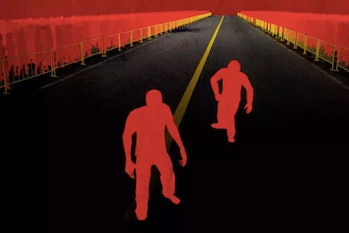A still from 'The Long Walk', an animated short byAdriano Gazzabased on Stephen King's short story
