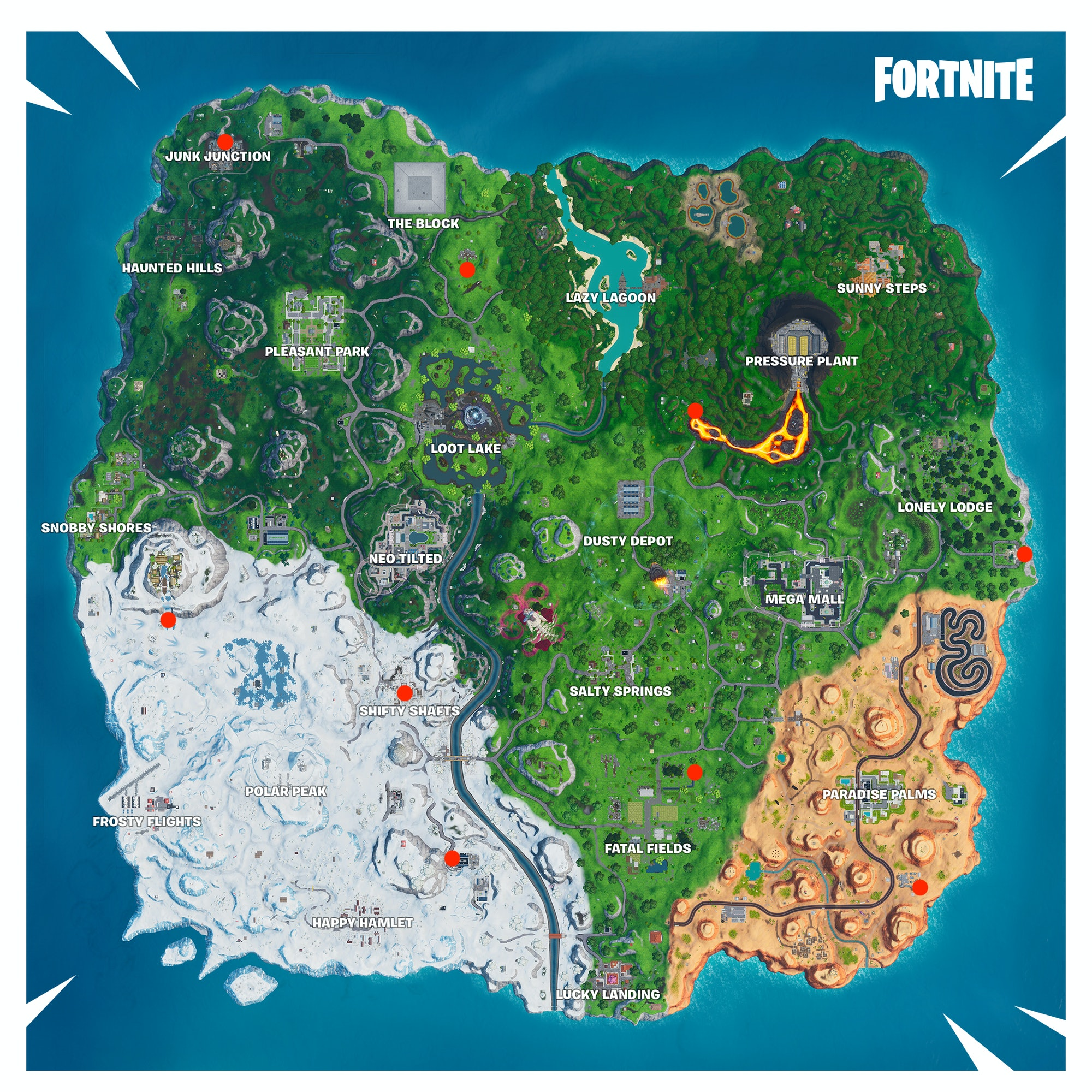 fortnite spray can locations map