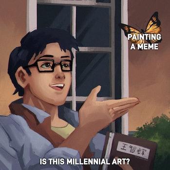 millennial pigeon meme
