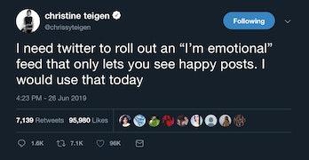 Chrissy Teigen's Twitter