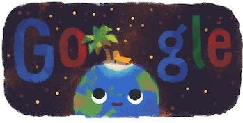 summer season, Google Doodle
