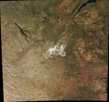 The Makgadikgadi Salt Pans.