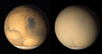 mars dust storm