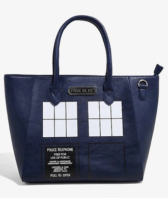 DOCTOR WHO TARDIS CROSSBODY TOTE BAG