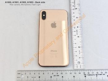 Apple's gold iPhone X.