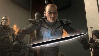 star wars clone wars animated series darksaber lightsaber