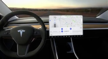 The Model 3 dashboard.