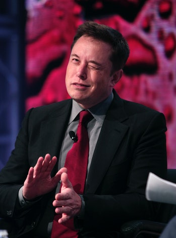 DETROIT, MI - JANUARY 13: Elon Musk, co-founder and CEO of Tesla Motors, speaks at the 2015 Automoti...