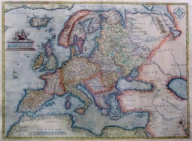 Abraham Ortelius map of Europe