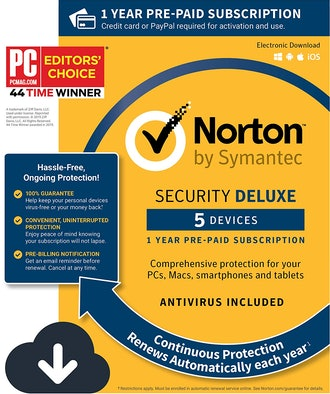 Norton Security Deluxe – Antivirus software for 5 Devices with Auto Renewal