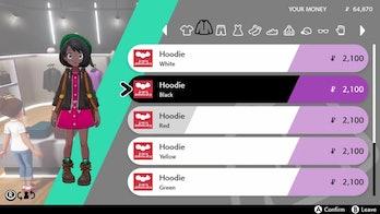 pokemon sword and shield clothing