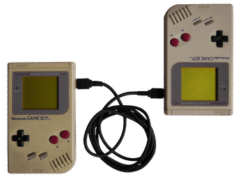 Two Gameboy with wire