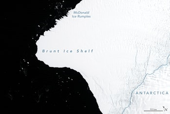 brunt ice shelf antartica