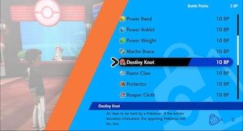 pokemon sword shield destiny knot