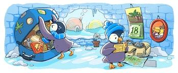 The penguins planning a visit.